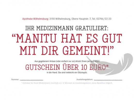 -Gutschein vom Medizinmann, der Apotheke mitten in Wilhelmsburg